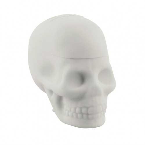 Boite en silicone Nogoo Skull blanche