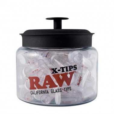 """Filtre en verre Raw Roor """"X Tips"""" Large (1 pièce)"""