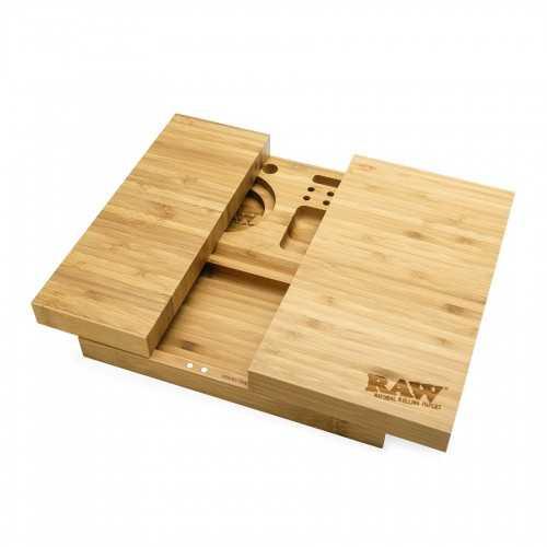Plateau à rouler aimanté en bamboo Raw Triple Flip
