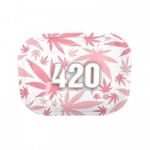 """Plateau à rouler V-Syndicate """"420"""" Pink Mini"""