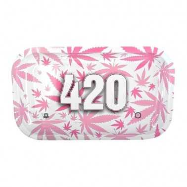 "Plateau à rouler V-Syndicate ""420"" Pink Small"