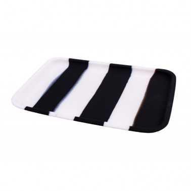Plateau à rouler en silicone noir et blanc