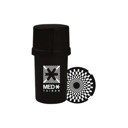 """Medtainer Boite + Grinder  édition limitée Collection """"Illusion"""" noir"""