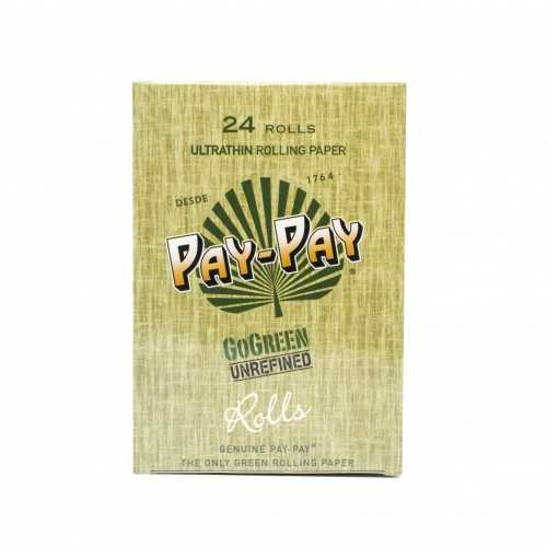 Carton de feuille à rouler PAY PAY GO Green King Size Slim Rolls