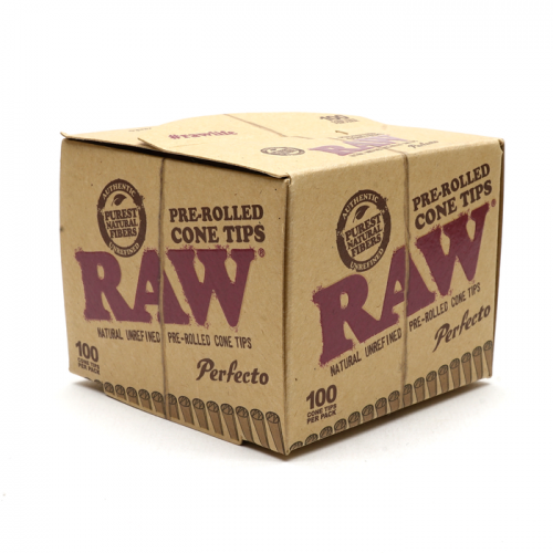 Raw Perfeco 100 filtres côniques Pré-Roulés