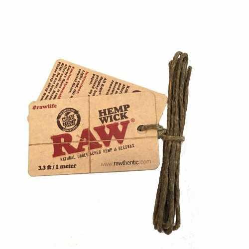 Raw Hemp Wick 1m