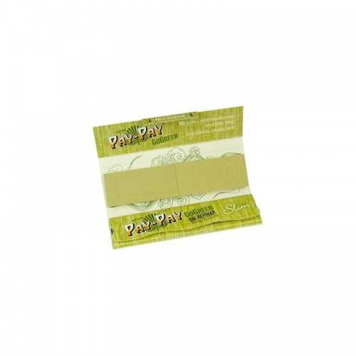 Feuille à rouler Pay Pay Go Green King Size Slim Tips (50 feuilles)