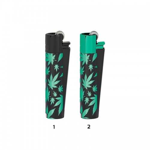 Clipper Metal Green Leaves + boite