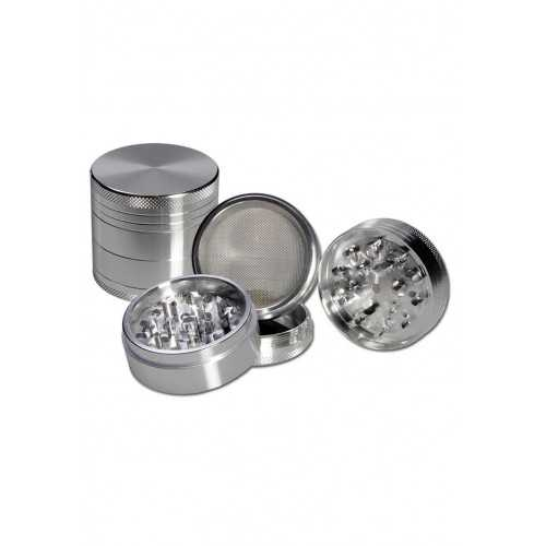 Grinder 4 parties Small Black Leaf Chrome