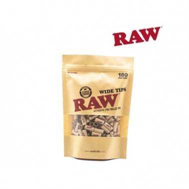 Sachet de 180 filtres pré-roulé Raw Wide