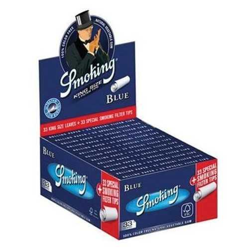 Smoking Blue + Filtres (carton)