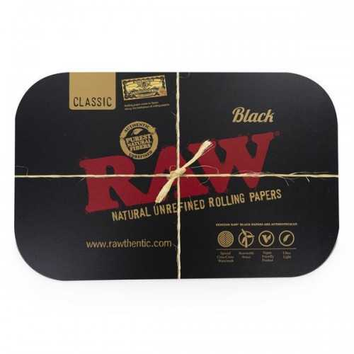 RAW BLACK MAGNETIC ROLLING TRAY COVER SMALL