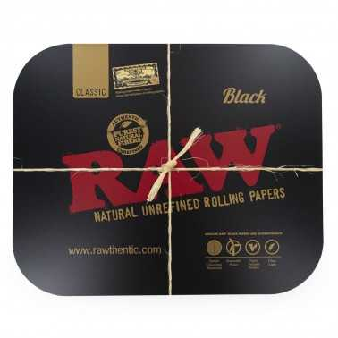 RAW BLACK MAGNETIC ROLLING TRAY COVER Large