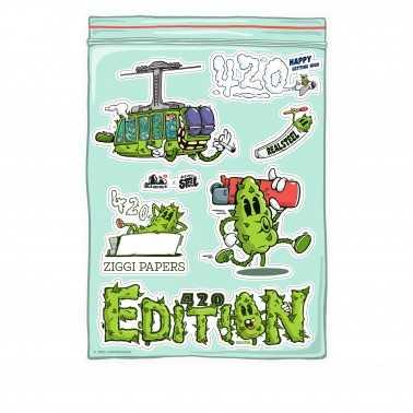 Ziggi Schwiiz x Realsteel 420 Edition Stickers
