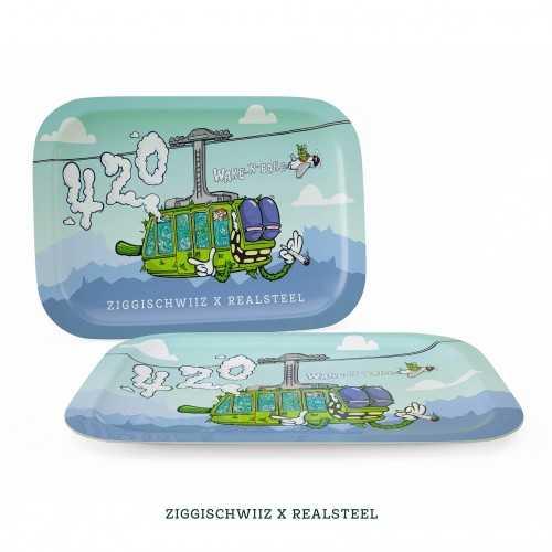 "Plateau à rouler Small ""Ziggi Schwiiz x Realsteel 420 Edition"""